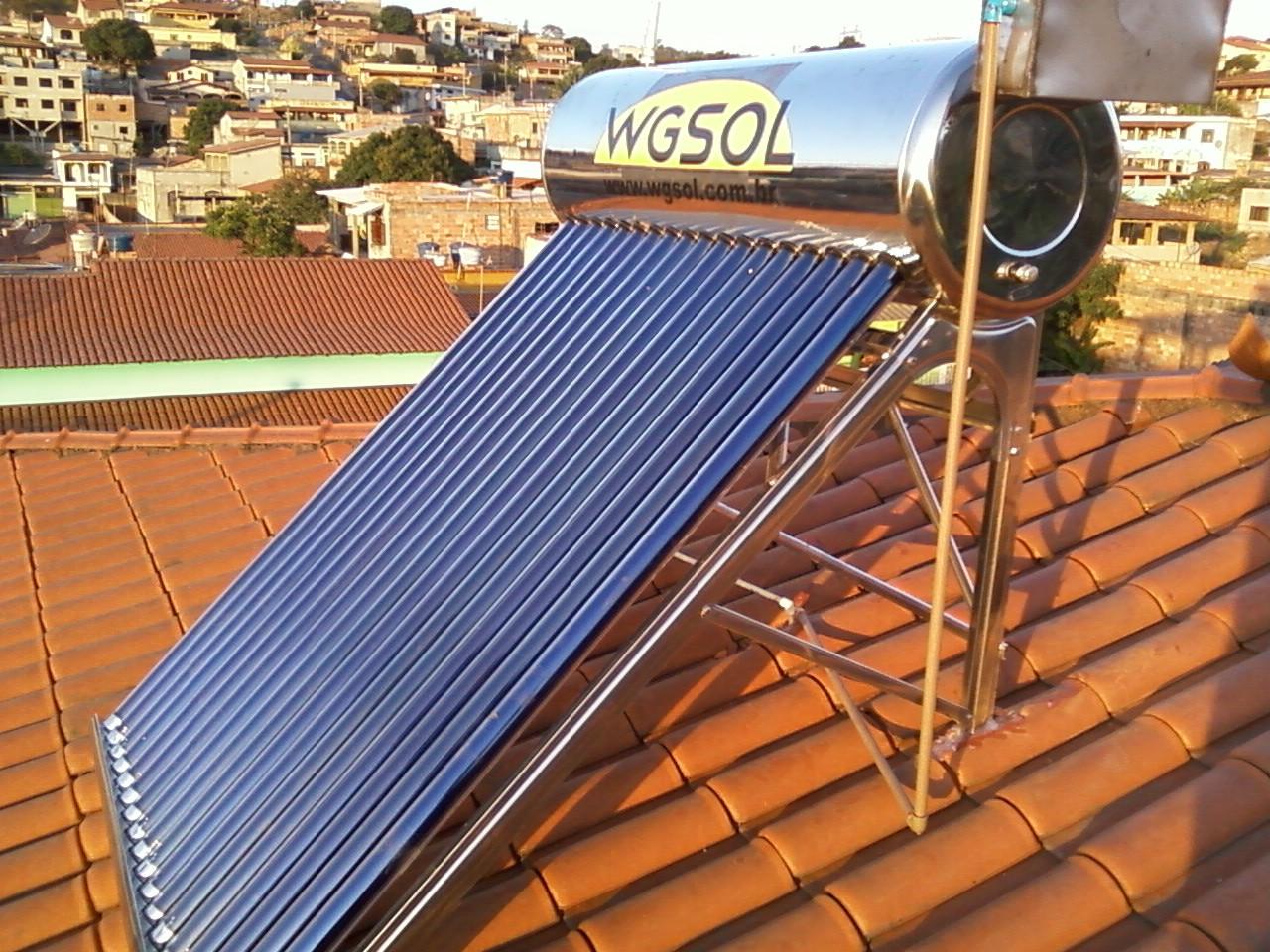 Aquecedor solar acoplado