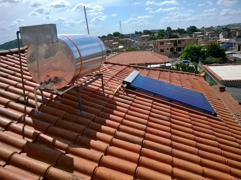 Aquecedor solar a vácuo modular