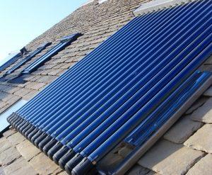 Sistema de aquecimento solar a vácuo
